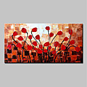 ieftine Picturi în Ulei-mintura® manual pictat cuțit ulei de flori roșu pictura pe panza modern abstract peisaj perete imagine arta pentru decoratiuni interioare gata să atârne