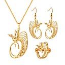 ieftine Cercei-Pentru femei Set bijuterii Pasăre femei, Vintage Include Cercei Rotunzi Coliere cu Pandativ Inel Auriu Pentru Cadou Zilnic / Σκουλαρίκια