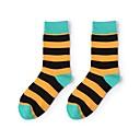 ieftine Veselă-1 Pair Pentru femei Șosete Standard Dungi Sport stil minimalist Bumbac EU36-EU42