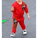 tanie Sukienki dla niemowląt-Dziecko Dla dziewczynek Moda miejska Geometric Shape Długi rękaw Bawełna Komplet odzieży / Brzdąc