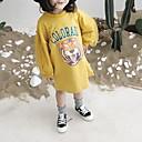 tanie Sukienki dla dziewczynek-Brzdąc Dla dziewczynek Podstawowy Solidne kolory Długi rękaw Długie Poliester Bluzy Biały 130