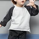 ieftine Seturi Îmbrăcăminte Băieți-Copii Băieți Activ Bloc Culoare Manșon Lung Poliester Bluză Maro 100