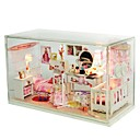 cheap Doll Houses-Dollhouse Lovely Exquisite Romance Contemporary Pieces Kid's Adults' Girls' Toy Gift