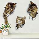 preiswerte Wand-Sticker-Dekorative Wand Sticker - Tier Wandaufkleber Tiere / 3D Drinnen