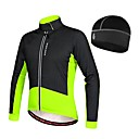 זול מדבקות קיר-WOSAWE בגדי ריקוד גברים ג'קט לרכיבה אופניים אביב מעילי פליז / ג'רזי / כובע שמור על חום הגוף, בטנת פליז טלאים צמר שחור / אדום / ירוק / שחור בגדי רכיבת אופניים / סטרצ'י (נמתח)