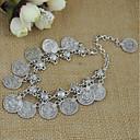 cheap Bracelets-Women's Stylish Coin Chain Bracelet Pendant Bracelet - Flower Shape Stylish, Romantic, Boho Bracelet Silver For Daily Date