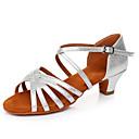 povoljno Cipele za latino plesove-Žene Plesne cipele Lakirana koža Cipele za latino plesove Kopča Sandale / Štikle Debela peta Moguće personalizirati Srebro / Seksi blagdanski kostimi
