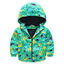 abordables Pijamas Kigurumi-Niños / Bebé Chico Activo / Chic de Calle Diario / Escuela Estampado Manga Larga Regular Algodón / Poliéster Blusa Verde Trébol