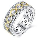 ieftine Colier la Modă-Pentru femei Zirconiu Cubic În Straturi Band Ring - S925 Sterling Silver Floare Clasic, Vintage, Elegant 6 / 7 / 8 / 9 / 10 Argintiu Pentru Nuntă Logodnă Ceremonie
