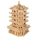 cheap Wooden Puzzles-Wooden Puzzle / Logic & Puzzle Toy Scenic / Chinese Architecture School / Professional Level / Stress and Anxiety Relief Wooden 1 pcs Kid's / Teen All Gift