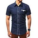 hesapli Erkek Tişörtleri ve Atletleri-Erkek Gömlek Yaka Polo Solid Temel Büyük Bedenler Siyah / Uzun Kollu