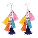 זול סיכות אופנתיות-בגדי ריקוד נשים קלוע עגיל - מסוגנן כחול / ורוד / ורוד בהיר עבור רשמי