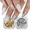 abordables Apliques de Pared-2 / caja Diseños de Moda / Luminoso Novedad De moda arte de uñas Manicura pedicura Papel de oro Glitters / Retro Fiesta de Boda / Ropa Cotidiana