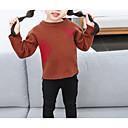 preiswerte Pullover & Strickjacken für Mädchen-Kinder Mädchen Grundlegend Alltag Solide Langarm Standard Baumwolle / Polyester Pullover & Cardigan Braun