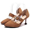 זול סניקרס לנשים-בגדי ריקוד נשים נעליים PU אביב נוחות עקבים עקב סטילטו שחור / חום / ורוד