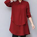 preiswerte 3D Sticker-Damen Solide - Grundlegend Bluse