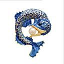 رخيصةأون حلقات الأذن-للمرأة ستايل دبابيس - لؤلؤ تقليدي سمك أنيق, كلاسيكي بروش أزرق من أجل يوميا