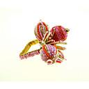 preiswerte Servietten-Ring-Klassisch Glas / Kunststoff Quadratisch Servietten Ring Solide Blume Tischdekorationen 12 pcs