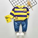 billige Sett med Gutter babyklær-Baby Gutt Aktiv Daglig Trykt mønster Langermet Normal Tøysett Oransje