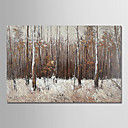 tanie Obrazy olejne-Hang-Malowane obraz olejny Ręcznie malowane - Kwiatowy / Roślinny Nowoczesny Zwinięte płótna / Zwijane płótno