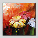 tanie Obrazy olejne-Hang-Malowane obraz olejny Ręcznie malowane - Kwiatowy / Roślinny Nowoczesny Brezentowy