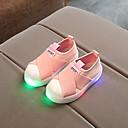 זול מכנסיים לבנים-בנים / בנות נעליים קנבס קיץ & אביב נוחות / נעליים זוהרות נעלי ספורט LED ל ילדים / פעוטות שחור / אפור / ורוד