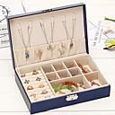 billige Skrivebords Organisation-Opbevaring Organisation Smykker Samling PU Læder Rektangelform Bærbar