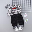 ieftine Top Băieți Bebeluși-Bebelus Băieți Activ / De Bază Zilnic Imprimeu Manșon Lung Regular Poliester Set Îmbrăcăminte Roșu-aprins 100 / Copil