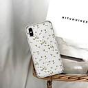 hesapli iPhone Kılıfları-Pouzdro Uyumluluk Apple iPhone 8 / iPhone XS Temalı Arka Kapak Çiçek Yumuşak TPU için iPhone XS / iPhone XR / iPhone XS Max