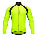 preiswerte Radtrikots-WOSAWE Unisex Langarm Fahrradtrikot - Grün Patchwork Fahhrad Trikot / Radtrikot Oberteile Polyester / Dehnbar / Erweitert