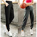זול ביגוד כושר, ריצה ויוגה-בגדי ריקוד נשים מכנסי ריצה מסלול מכנסי ספורט ספורט חורף מכנסי טרנינג תחתיות יוגה כושר וספורט להתאמן נושם ייבוש מהיר רך מידות גדולות אחיד שחור אפור L XL XXL XXXL 4XL / גמישות גבוהה / תומך זיעה