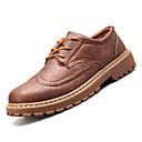 ieftine Echipamente & Accesorii de Fitness-Bărbați Pantofi de confort PU Toamnă Casual Oxfords Non-alunecare Negru / Gri / Maro