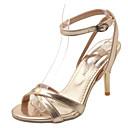 hesapli Kadın Sandaletleri-Kadın's Sandaletler Konforlu Ayakkabılar Stiletto Topuk PU Bahar Altın / Gümüş / Kırmzı