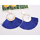 cheap High Quality Duvet Covers-Women's Tassel Drop Earrings fan earrings Hanging Earrings Earrings Ladies European Fashion Elegant Oversized Jewelry Wine / Light Blue / Dark Green For Party Street 1 Pair