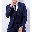 olcso Teljes test masszírozó-Hasított rever Férfi ruhák-Egyszínű / Hosszú ujj