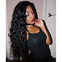 tanie Peruki z włosów ludzkich-Włosy naturalne remy Pełna siateczka Siateczka z przodu Peruka Włosy brazylijskie Afro Kinky Czarny Peruka Fryzura asymetryczna 130% 150% 180% Gęstość włosów z Baby Hair Damskie Łatwe ubieranie