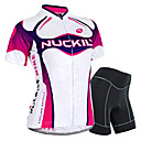 cheap Cycling Jerseys-Nuckily Women's Short Sleeve Cycling Jersey with Shorts - Purple Bike Shorts / Jersey / Clothing Suit, Waterproof, 3D Pad, Breathable, Reflective Strips, Sweat-wicking Polyester, Spandex Gradient