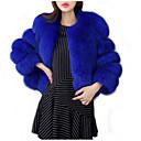 זול סט תכשיטים-בגדי ריקוד נשים סגול אפור בהיר כחול ים XXL XXXL 4XL מעיל פרווה בסיסי אחיד
