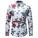 رخيصةأون ساعات ذكية-رجالي قطن قميص عتيق / أساسي ورد / كم طويل