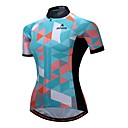 cheap Cycling Jerseys-Miloto Women's Short Sleeve Cycling Jersey - Green Bike Jersey Top, Breathable Reflective Strips 100% Polyester / Stretchy