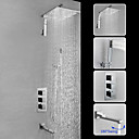 رخيصةأون حنفيات الدوش-حنفية دش / بالوعة الحمام الحنفية - معاصر الكروم مثبت على الحائط صمام نحاسي أصفر