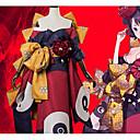זול תחפושות אנימה-קיבל השראה מ גורל / סדר גדול Katsushika הוקוסאי אנימה תחפושות קוספליי חליפות קוספליי פרח קשת / מעיל קימונו / לבוש ראש עבור בגדי ריקוד נשים תחפושות ליל כל הקדושים