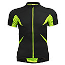 cheap Cycling Pants, Shorts, Tights-Jaggad Men's Women's Unisex Short Sleeve Cycling Jersey - Green / Black Solid Color Bike Jersey Top Breathable Quick Dry Sports Polyester Elastane Mountain Bike MTB Road Bike Cycling Clothing Apparel