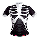 cheap Holiday Party Decorations-WOSAWE Men's Short Sleeve Cycling Jersey - White Skeleton Bike Jersey Top, Breathable Quick Dry Sweat-wicking Polypropylene / Stretchy / Advanced