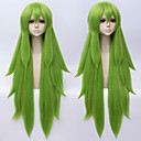 abordables Pelucas Sintéticas de Malla-Pelucas de cosplay Rizado Corte asimétrico Pelo sintético 38 pulgada Cosplay Verde Peluca Hombre / Mujer Larga Sin Tapa Verde