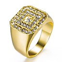 cheap Men's Rings-Men's Classic Ring - Rhinestone, Gold Plated Stylish, Classic 8 / 9 / 10 / 11 Gold For Daily