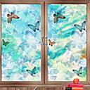 levne Samolepky na zeď-Okenní film a samolepky Dekorace Retro styl Postavička PVC Zářící barvy