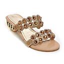 ieftine Sandale de Damă-Pentru femei Pantofi de confort Sintetice Vară Sandale Toc Jos Auriu / Albastru