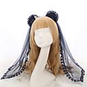 hesapli Lolita Aksesuarları-Lolita Aksesuarları Başlık See Through Kadın's Mavi / Mavi Mürekkep Dikişli Dantel Fiyonk Düğüm Ayı Başlık Tül Kostümler