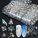cheap Manicure & Pedicure Tools-16 pcs Foil Sticker Cartoon Series / Snowflake nail art Manicure Pedicure New Design / Best Quality Statement / Trendy Christmas / Halloween / Party / Evening